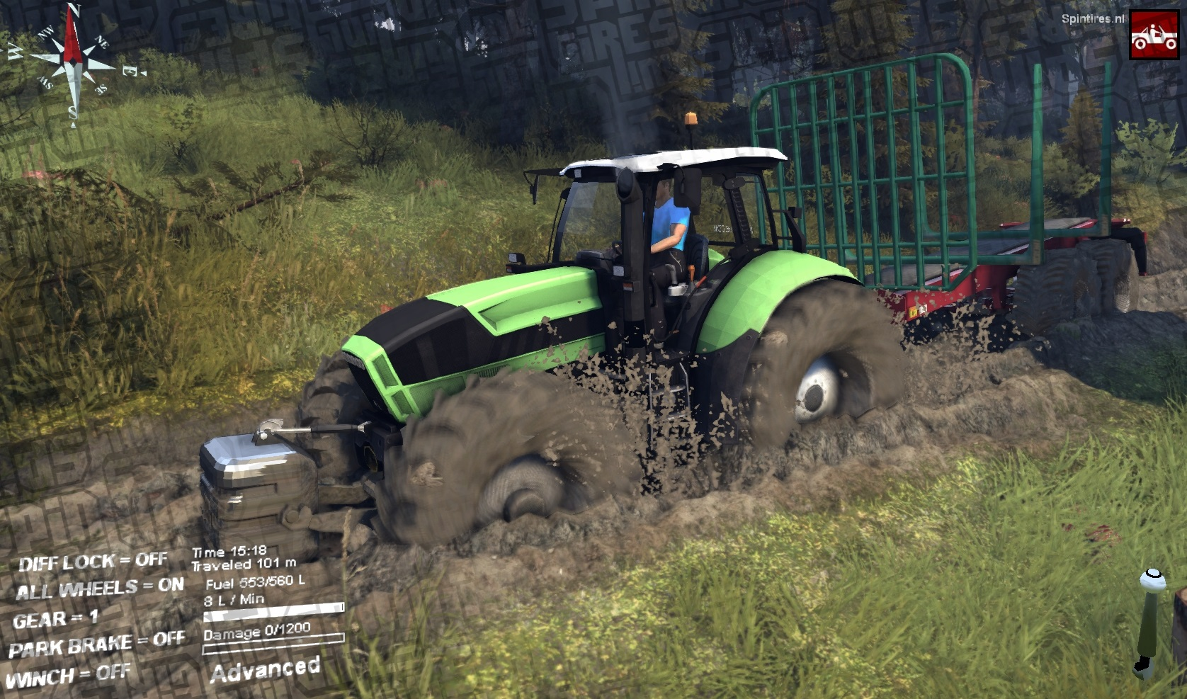 Spin tires моды трактора скачать
